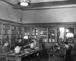 Readers in the McDonald Rare Books Room, predecessor to Special Collections, 1934.