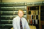 Lawrence A. Landis in 1995.  Larry has served as University Archivist since 1996 and is now the Director of the Special Collections & Archives Research Center.
