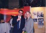 Emeritus Head of Special Collections Cliff Mead with Mary Steckel at the Pauling traveling exhibit opening in Tokyo, Japan, 2004.