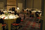 Dinner venue for the evening - The Fireside Room at the Embassy Suites Hotel, downtown Portland.