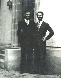 Charles Coryell and Linus Pauling, 1935.