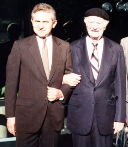 Rick Hicks and Linus Pauling, 1989.