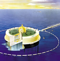Artist's rendering of a proposed nuclear desalination plan. (Credit: Oak Ridge National Laboratory)