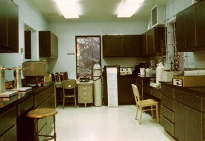 Interior view of the Sand Hill Rd. facility, 1974.