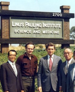 Art Robinson and Rick Hicks with LPISM visitors, 1977.
