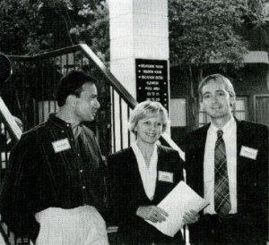 Steve Harakeh, Aleksandra Niedzwiecki and Steve Lawson at LPI's September 1994 conference.