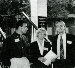 Steve Harakeh, Aleksandra Niedzwiecki and Steve Lawson at LPI's September 1994 conference.