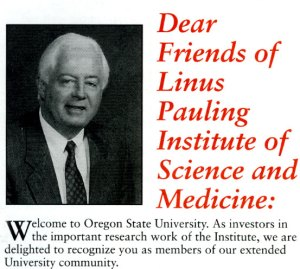 Welcome message from then OSU President Paul Risser, 1996.