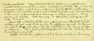 Pauling's notes on the 1939 explosion.