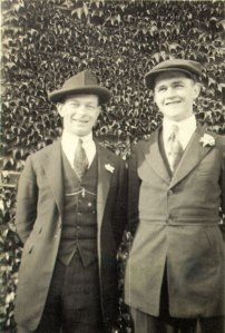 Linus Pauling and Paul Emmett: life-long friends and two of the twentieth century's greatest chemists.  Posing together as OAC undergraduates, 1920.