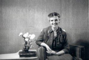 Ava Helen Pauling, 1958.
