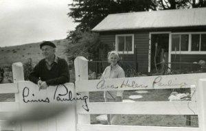 The Paulings at Deer Flat Ranch, 1962. Photo by Arthur Dubinsky.