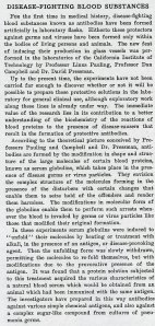 Text of Pauling's artificial antibodies press release, March 1942.