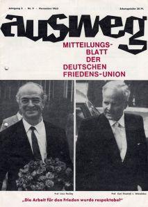 Ausweg, November 1963.