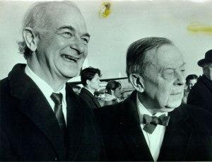 Pauling and Gunnar Jahn, ca. 1963.