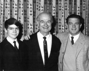 Three Linus Paulings. From left, grandson Linus Fowler Pauling, Linus Pauling and Linus Pauling Jr. 1963.