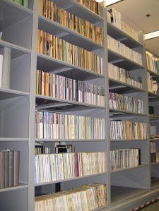 Pauling's personal collection of science fiction periodicals, as housed in the OSU Libraries Special Collections & Archives Research Center.