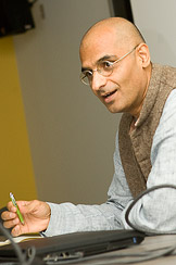 Zia Mian at Princeton University, 2008. Photo by Brian Wilson.