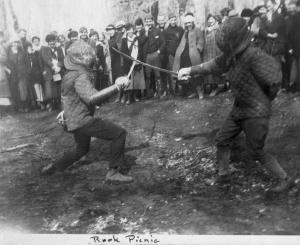 Freshman fun at OAC, 1918. Photo by Linus Pauling.