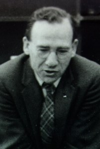 Eddie Hughes in 1957. Hughes played an important role in the publication of the Nature of the Chemical Bond and became a valued colleague of Pauling's in the years that followed.