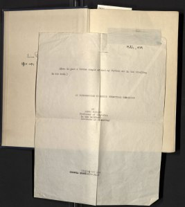 The first edition office copy of The Nature of the Chemical Bond, containing Peter Pauling's (age 8) typed annotation.