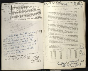 Pauling's interleaved copy, full of notes for future revisions.