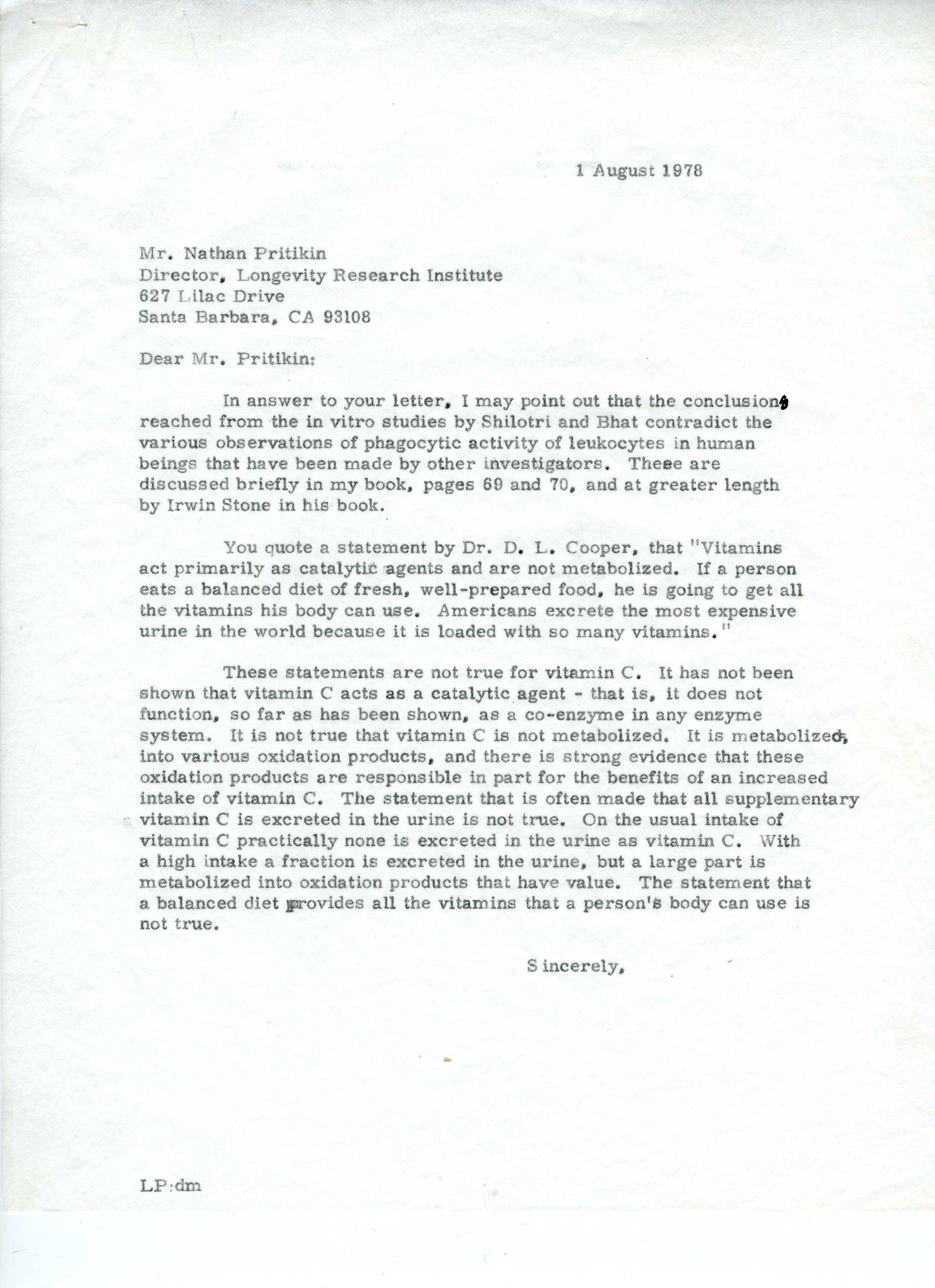The pritikin program essay