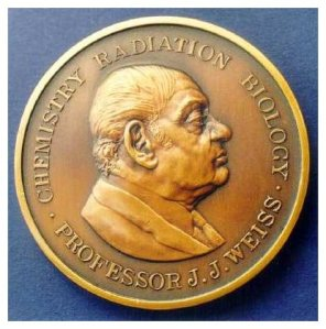 The Joseph Weiss Medal, which commemorates his work as a radiation chemist.