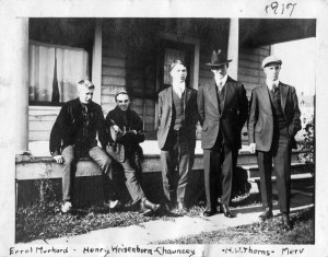 Mervyn Stephenson (far right) with OAC classmates, 1917.