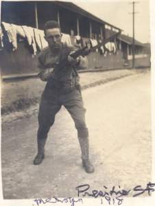 Mervyn Stephenson, training at the Presidio, summer 1918.