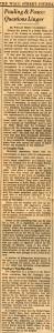 """Pauling & Peace: Questions Linger,"" Wall Street Journal, Dec. 17, 1963."