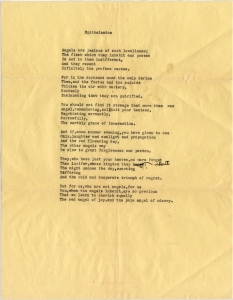 """""""Epithalamion,"""" one of eleven poems written by Oppenheimer for Pauling in 1928."""