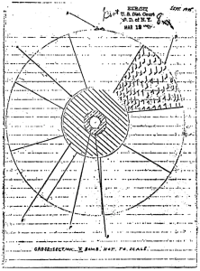 Greenglass's sketch of an implosion-type nuclear weapon, ca. September 1945.