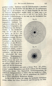 Detail from 'Atombau und Spektrallinien' containing x-ray diffraction images.