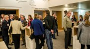Invited guests mingling at a reception held prior to Dr. Lubchenco's talk.
