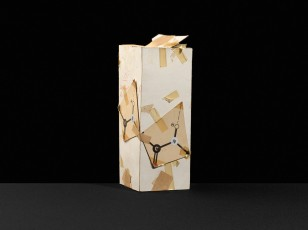 Paper model likely created as an intermediate during the process of developing a crystal structure. Ca. 1940s?