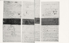 Manuscript leaves from Pauling's work on the proposed triple-helical structure of DNA, 1952.