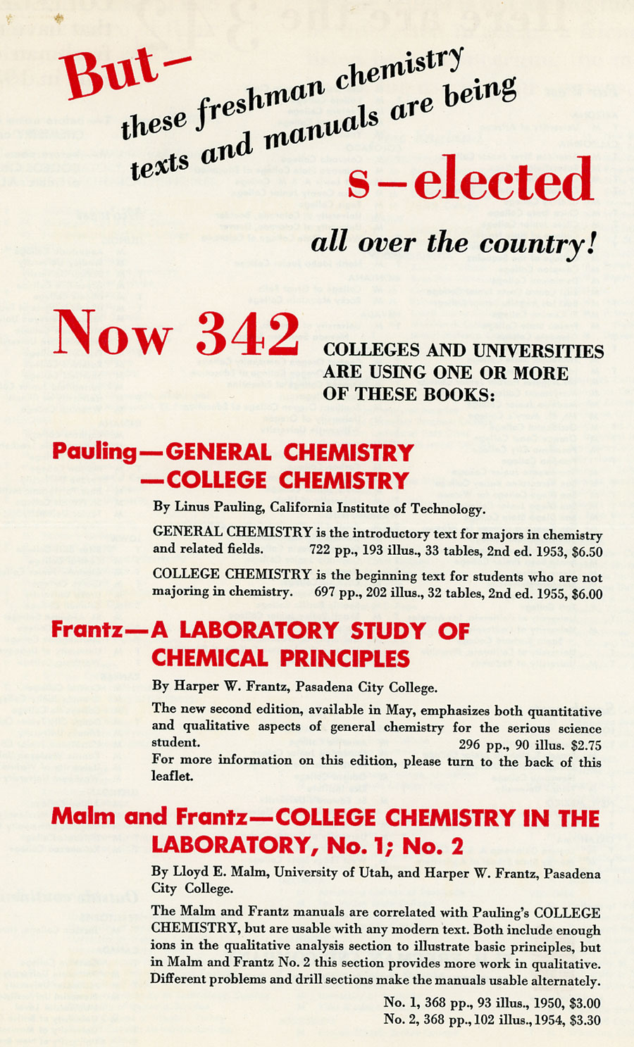 General Chemistry, Second Edition | PaulingBlog