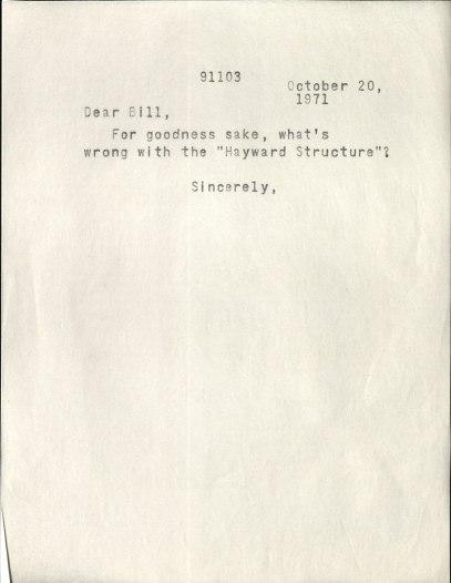 Hayward's-letter